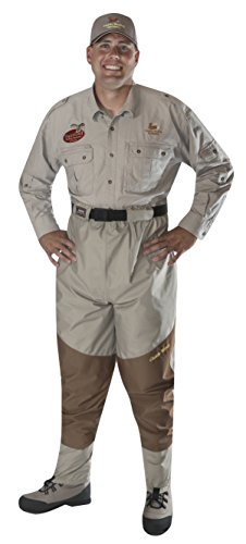 - Caddis Men's Attractive 2-Tone Taupe Deluxe Breathable Stocking Foot Waist-High Wader, Large