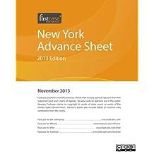 New York Advance Sheet November 2013
