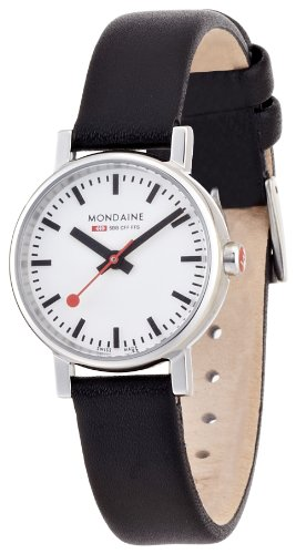 Mondaine Women's A658.30301.11SBB Quartz Evo Leather Band Watch