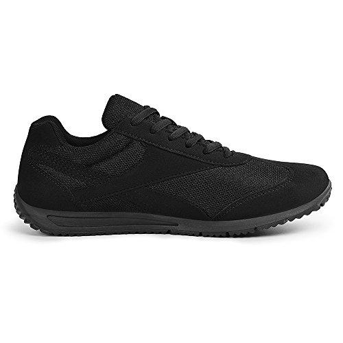 Feetmat Herren Laufschuhe Fashion Sneakers Leichte atmungsaktive Sport Wanderschuhe Schwarz