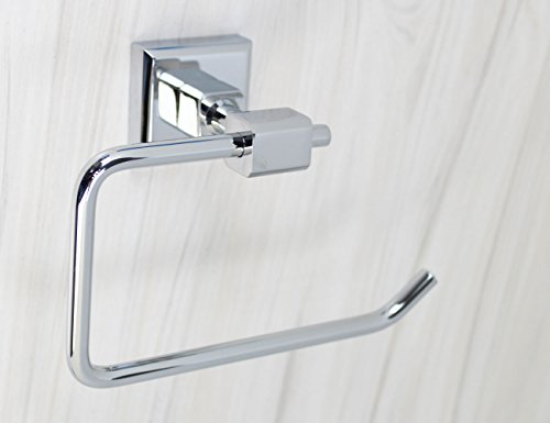 Xogolo Luxury Solid Brass Toilet Paper Holder, Roll Quadrate,Chrome Finished, Wall Mounted Mirror Polished, Bathroom Accessories by XOGOLO