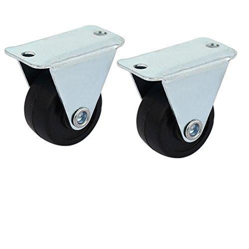eDealMax DE 1 pulgada de goma sola rueda de Metal placa fija ...