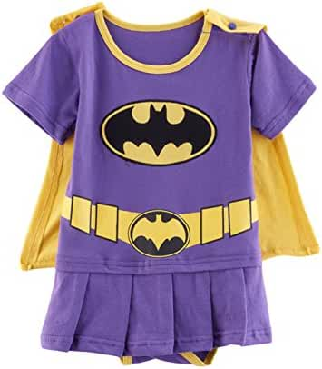 Rush Dance One Piece Super Hero Baby Wonder Baby Woman Romper Onesie Suit Cape