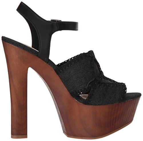 Jessica Simpson Women's Dezzie Heeled Sandal Black Denim prices for sale view sale online sale explore discount 100% authentic outlet low shipping fee KidC8D7k