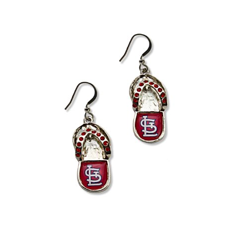 Free MLB St. Louis Cardinals Crystal Flip Flop Earrings