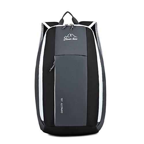 Ruanlei @Vintage CanvasRucksack/Outdoor Laptop-Rucksack/ReisenWandern/Rucksack mit großer KapazitätOutdoor Sport und Freizeit Reisetaschen, blaue Schultern. gray