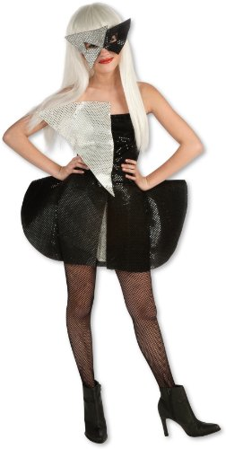 Lady Gaga Black Sequin Dress Child Costume - Tween Medium -
