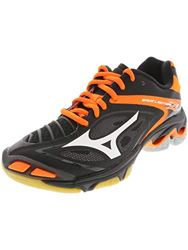 Mizuno Women's Wave Lighting Z3 Volleyball Shoe,Black/Orange,9.5 B US -