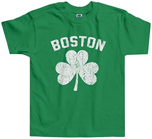 Boston Kids T-shirt - Threadrock Little Boys' Boston Shamrock Irish Pride Toddler T-Shirt 4T Kelly Green