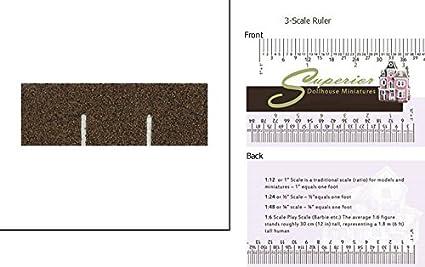 Birdhouse Dollhouse Model Railroad Asphalt MINIATURE ROOFING Craft Supplies