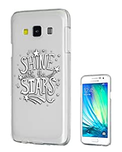 c0184 - Shine Like the Stars Design Samsung Galaxy J1 Fashion Trend CASE Gel Rubber Silicone All Edges Protection Case Cover