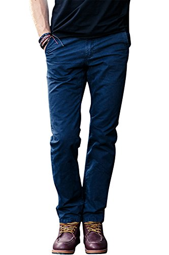 [Mens Classic Premium Cargo Trousers Wild Cargo Twill Work Pants Stretch Pants Navy Blue Size 29] (Stretch Twill Straight Leg Cropped Pants)