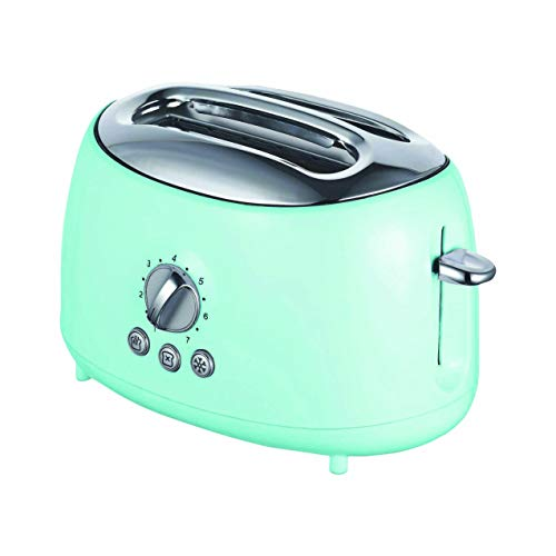 Brentwood TS-270BL Appliances Cool-Touch 2-Slice Retro Toaster with Extra-Wide Slots (Blue), One Size