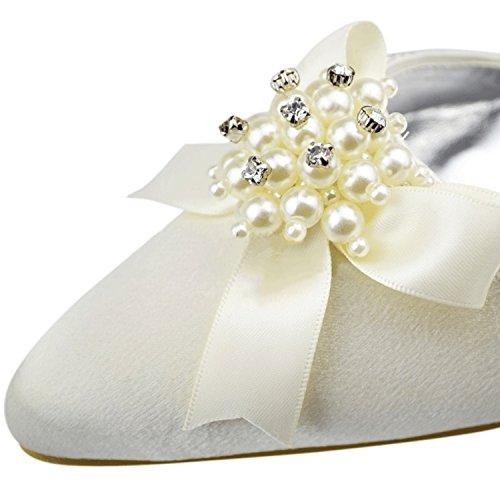 Kevin Fashion - Zapatos de boda fashion mujer marfil