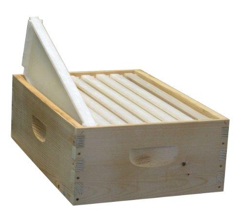 8-Frame Assembled Honey Super Kit, Standard Plastic Frames, Made in The USA (Super Honey)