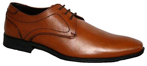 Echt Smart Schuh Braun patricks up Herren Work Leder Tan Lace Dress Casual f65Rgq