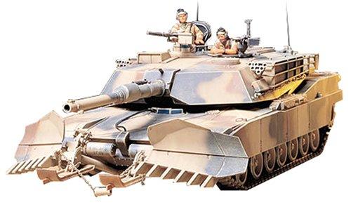 amazon com tamiya us m1a1 abrams w mine plow 1 35 military toys