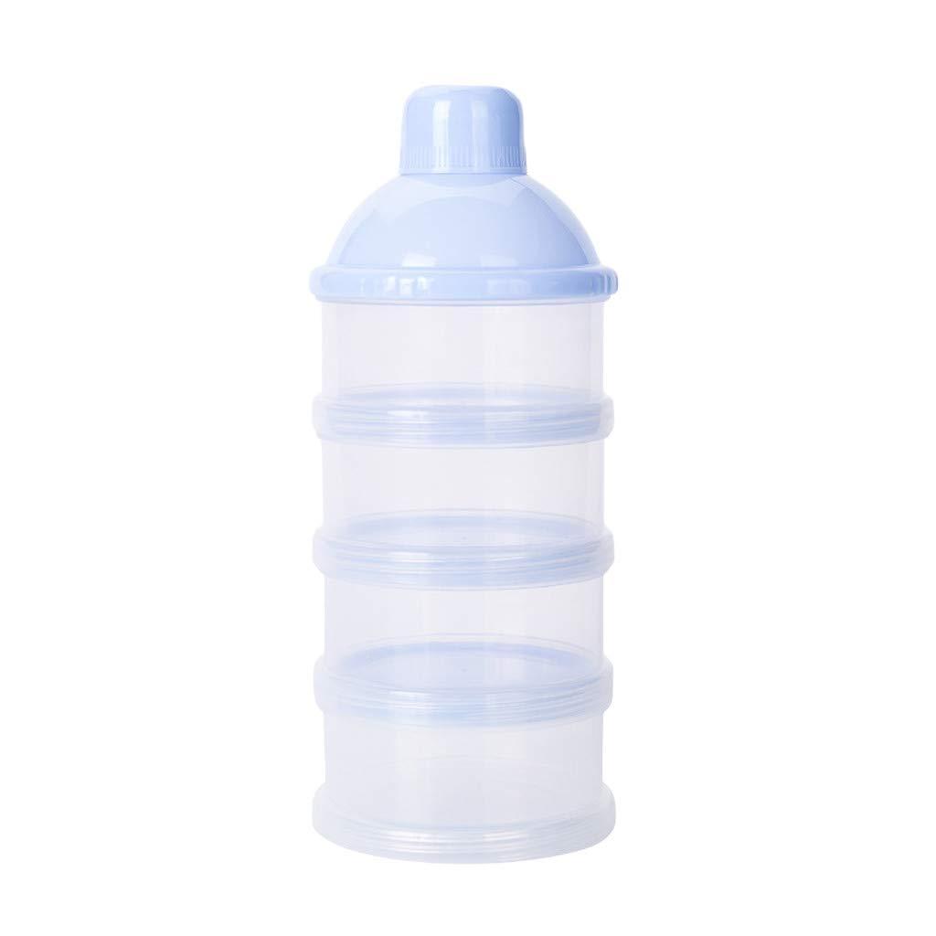 conqueror Boîte détachable portative de collation de récipient de lait en poudre de sécurité de boîte détachable (bleu)