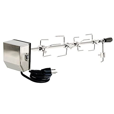 Onlyfire Heavy Duty Universal Grill Replacement Rotisserie Kit - 45'' & 53'' X 1/2'' Hexagon Spit Rod, 50 lb Stainless Steel Electric ()