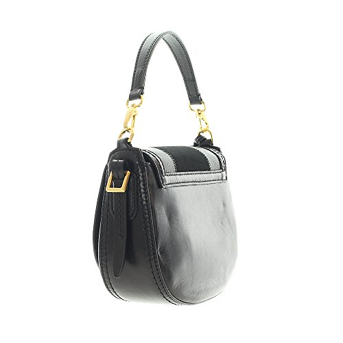 The Mini goldfarben Bridge cm à Nero Bag Sac main Barga 20 cuir rHrP1nqFE