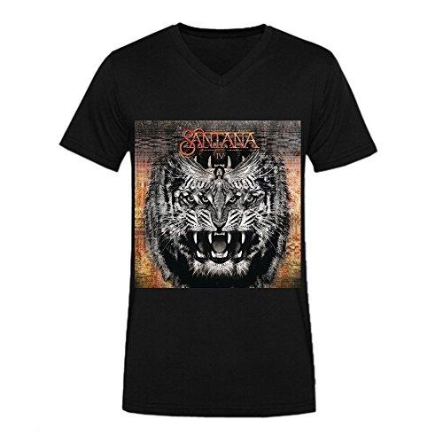 Santana Santana Iv T Shirts For Men V Neck Black