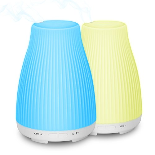 Zookki Essential Oil Diffuser, 2-Pack 100ml Aroma Diffuser Cool
