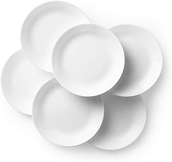 Corelle Winter Frost White Dinner Plates Set 10 1 4 Inch 6 Piece Dinner Plates