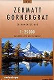 Carte routière : Zermatt - Gornergrat