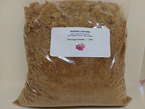 Date Sugar Powder 2 Pounds or Two Pounds All Natural Non-GMO BULK by Mulberry Lane Farms