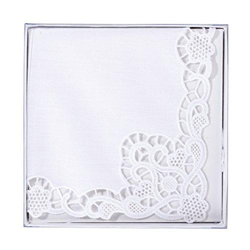 Lillian Rose Bride Wedding Gift White Lace Keepsake - Hankie Keepsake