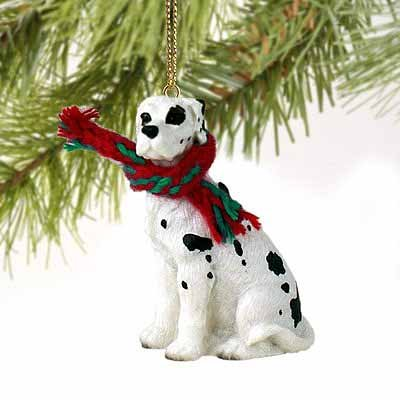 Great Dane Miniature Dog Ornament - Uncropped Ears - Harlequin