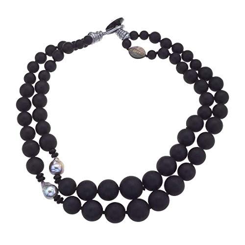 (AX Jewelry Vaid Roma Onyx & Cultured Pearl Bead)