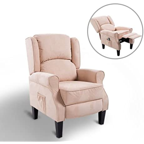 New MTN G Ergonomic Massage Recliner Sofa Chair Heated Lounge Suede W Remote Control
