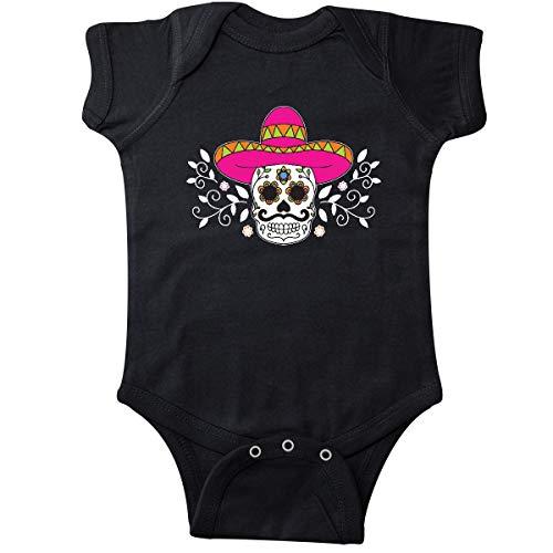 inktastic - Sugar Skull Illustration with Infant Creeper 6 Months Black 34f25