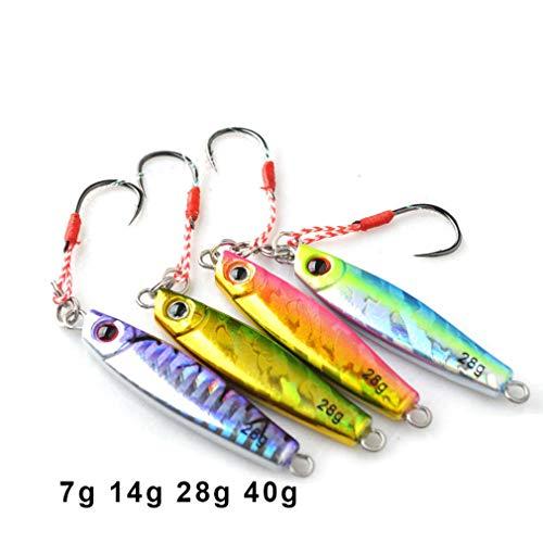 - Nafanio 4PCS/lot Fishing Lure 7g 14g 28g 40g Mini Jig Hard Bait