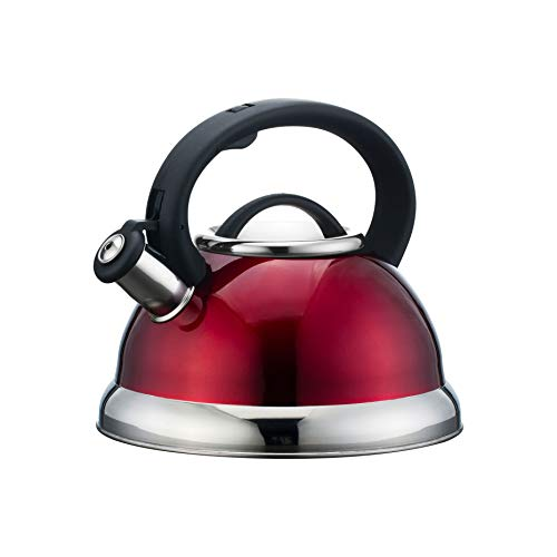 - Alpine Cuisine TK3001R Stainless Steel Tea Kettle, 2.8L, Red