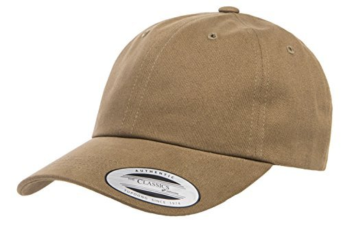 Yupoong Twill Hat (Yupoong Peached Cotton Twill Dad Cap, Loden, One Size)