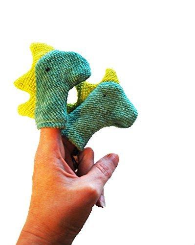 Organic Dinosaur Finger Puppet Prehistoric Animal Toy