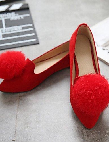 Guantes nbsp;– Vestido Zapatos LÄSSIG nbsp;Bailarinas idamen nbsp;– nbsp;– Gris nbsp;– nbsp;Bajo nbsp;– nbsp;Fieltro nbsp;Negro cerrados tacón nbsp;puntiaguda Gris nbsp;Oficina nbsp;– shangy Rojo gris Zehe fq8x5