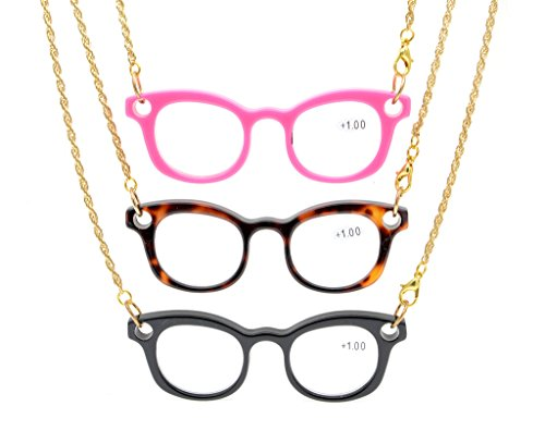 Arms Necklace - Eyekepper 3-Pack Mini Readers Necklace Reading Glasses 3pcs +1.5