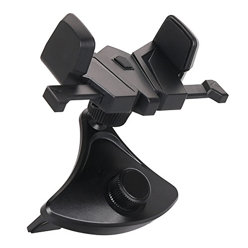 Car Phone Holder,CD Slot Car Phone Mount Universal Car Cradle Mount with and One Touch Design for iPhone X/8/8P/7/7P/6s/6P/5S, Galaxy S5/S6/S7/S8, Google Nexus, LG, Huawei and More CD+PF