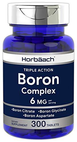 Triple Boron Complex 6 mg Supplement | 300 Tablets | Vegetarian, Non-GMO & Gluten Free | Triple Action Boron Citrate…