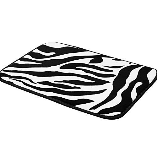 (Pragovle 20X32inch Non-Slip Memory Foam Indoor Mat for Bathroom Bedroom and Livingroom Rugs Carpet (Zebra))