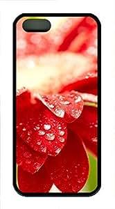 iPhone 5 5S Case Amazing Red Flower 21 TPU Custom iPhone 5 5S Case Cover Black