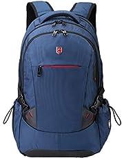 RUIGOR ICON 81 - Laptop- & Tablet-Reiserucksack wasserabweisender Rucksack 24l Laptopfach 15,6 Zoll Reise mit Safe-Pocket Brillenhalter und Kopfhörer-Port schwarz