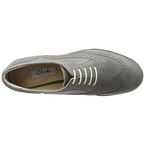 1c0fb7c412e well-wreapped Clarks Hamble Oak - Grey Leather Womens Shoes ...