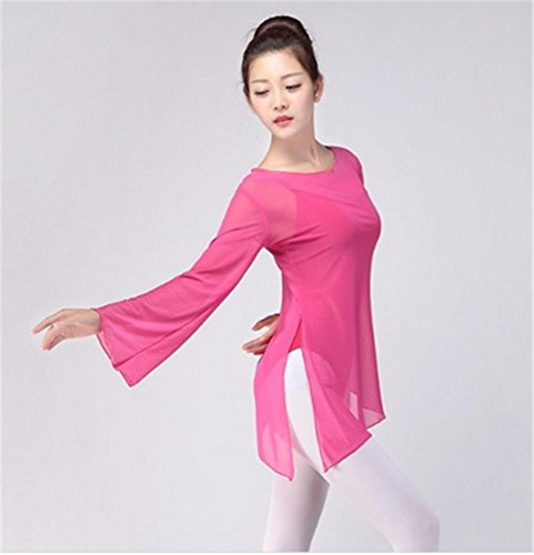 Robe Tops Peiwen Des Formation Rose Amples Ballet danse 6wwAZxqH