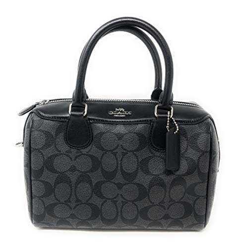 New Coach Signature Mini Bennet Satchel (Black/Grey)