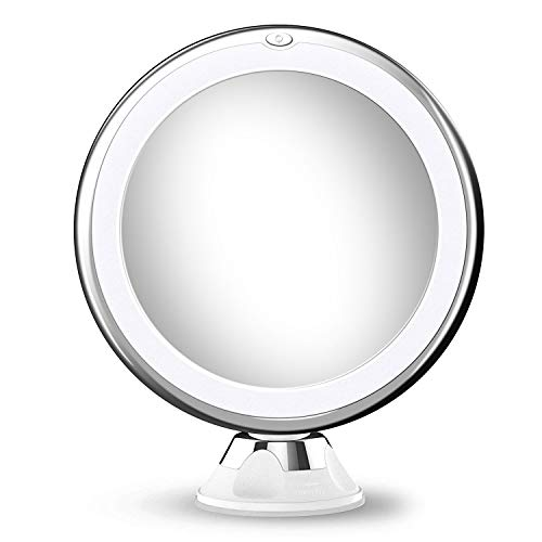 10X Magnifying LED Makeup Mirror with lights,LED Lighted Vanity Mirror with 360 -