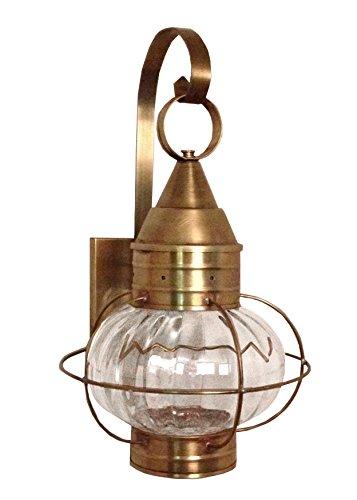 Brass Traditions 621-OPT-DB Medium Onion Wall Lantern Optic Globe, Dark Brass Finish Optic Globe Onion Wall Lantern ()